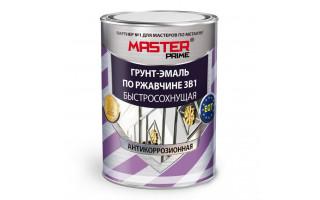 Грунт-эмаль по ржавчине (3 в 1) МАСТЕР 0,9л желтая