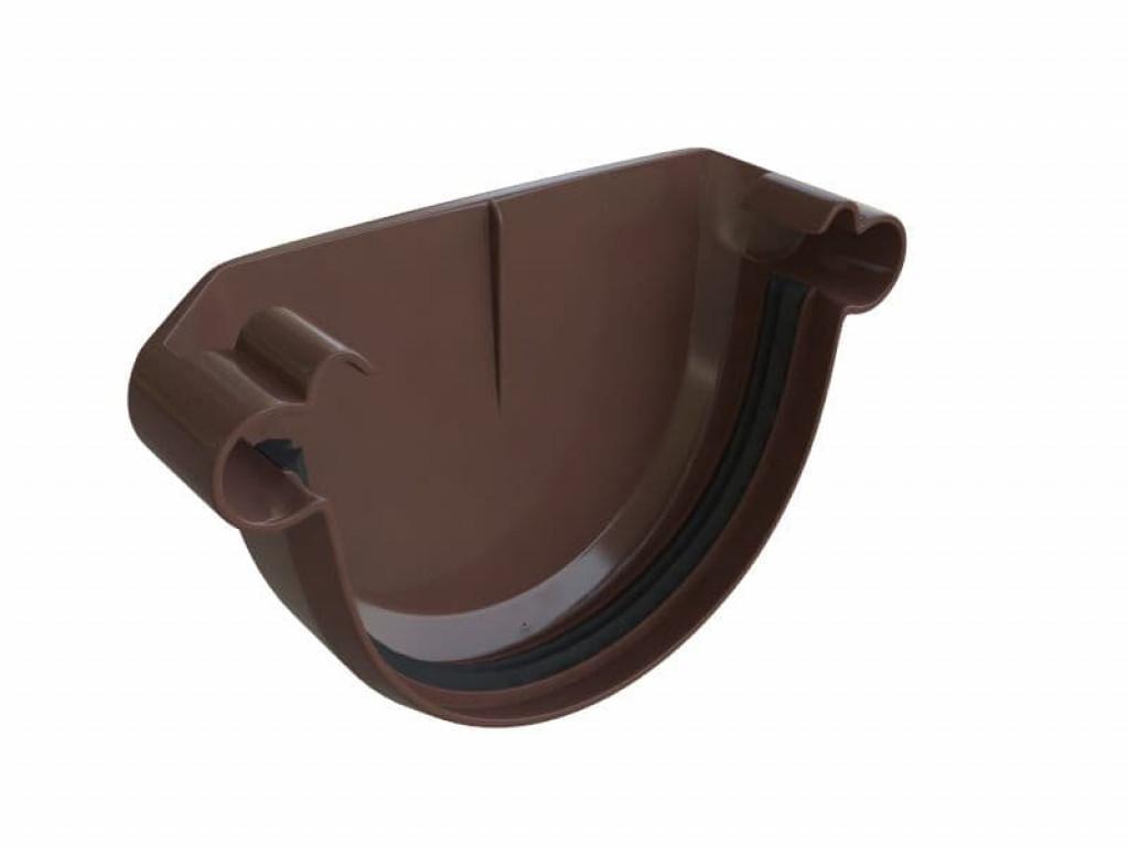 Заглушка желоба пвх (коричневый)