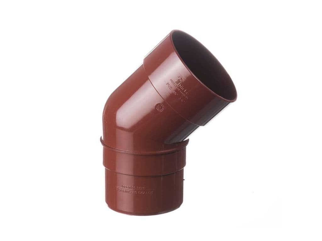Колено трубы 135град. пвх (коричневый)