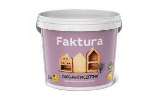 Лак-антисептик  FAKTURA  беленый дуб 0,9л