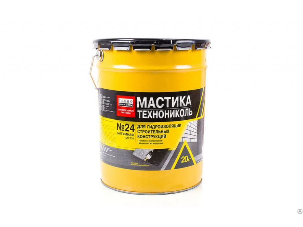 Мастика гидроизоляционная техноник. 20кг. №24(мгтн)