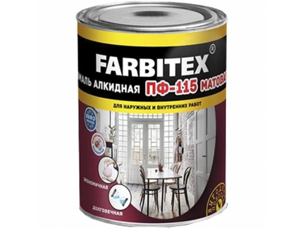 Эмаль алк. пф-115 0,9л (черная) farbitex